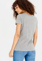 Vero Moda - Slogan Tee Pale Grey