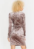 c(inch) - Asymmetrical Wrap Dress Grey