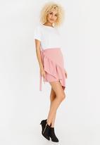 STYLE REPUBLIC - Frill Detail Mini Skirt Rose