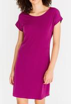 edit - Easy Wearing Shift Dress Dark Purple