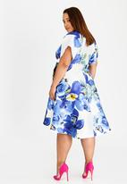 RUFF TUNG - Orchid Tuli Wrap Dress Blue and White