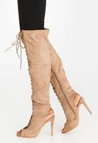 Miss Black - Clarissa Knee High Boots Neutral