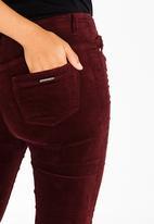 Sissy Boy - Zion Velvet Skinny Pants Burgundy