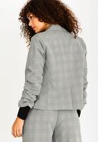 STYLE REPUBLIC - Ruched Sleeve Blazer Grey