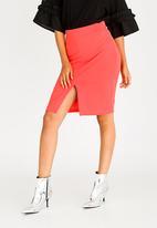 STYLE REPUBLIC - Basic Bodycon Skirt Coral