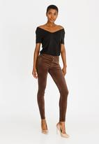 Sissy Boy - Zion Velvet Skinny Pants Dark Brown