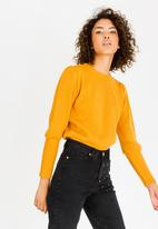 STYLE REPUBLIC - Easy Fit Volume Sleeve Jersey Yellow