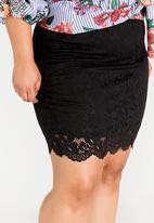 edit Plus - Lace Skirt Black