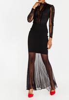 Sissy Boy - Destroyed Combo Dress Black
