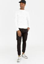 STYLE REPUBLIC - Relaxed Crew Neck Sweatshirt Cream