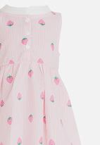 POP CANDY - Strawberry Printed Dress Pale Pink