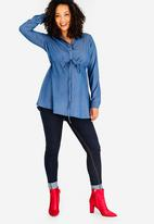 Cherry Melon - Denim Shirt Dark Blue