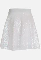 See-Saw - Sequin Skirt Silver