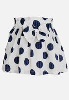 POP CANDY - Polka Dot Skirt Navy