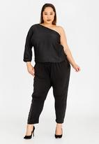 RUFF TUNG - One Shoulder Top Black