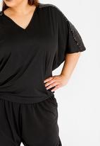 RUFF TUNG - Asanda Sequins Top Black