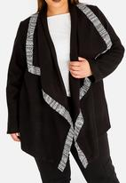 Leigh Schubert - Crosby Waterfall Coat Black