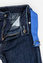 POP CANDY - Denim shorts with belt - blue