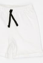 POP CANDY - Elasticated Shorts Off White