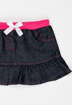 POP CANDY - Denim skirt - blue/pink