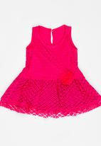 POP CANDY - Lace Dress Mid Pink