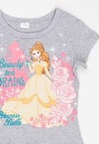 POP CANDY - Beauty And The Beast  Tee Grey