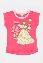 POP CANDY - Beauty And The Beast  Tee Mid Pink