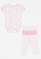 Twin Clothing - Short Sleeve Paris Two Piece Set Mid Pink