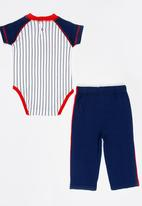 Twin Clothing - Two Piece Romper With Jogger Set Navy