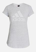 adidas Performance - ID Winner Tee Pale Grey