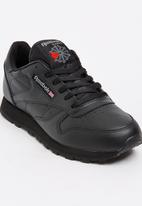 Reebok Classic - Teens classic leather sneaker - black