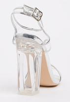 Miss Black - Cacao T-bar Heels Silver