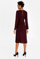 edit - A-line Dress with Cowl Neckline Burgundy