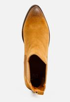 Dolce Vita - Suede Laredo Pointy Ankle Boots Tan