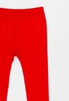 POP CANDY - Cable Knit Legging Red