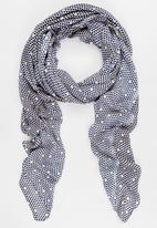 Joy Collectables - Printed Scarf Black and White
