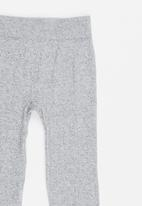 POP CANDY - Cable Knit Legging Grey