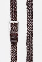 RVCA - Wellington Leather Belt Brown