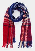 STYLE REPUBLIC - Check Shawl Multi-colour