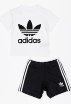 adidas Originals - Kids short tee set - black & white