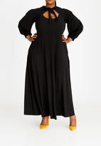 Plus-Fab - Brandy Keyhole Dress Black