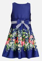 POP CANDY - Floral Fit and Flare Dress Navy