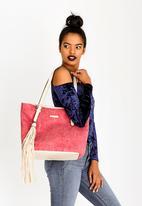 BLACKCHERRY - Embossed Shopper Handbag Mid Pink