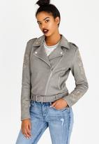 Sissy Boy - Biker Jacket with Embellishment Grey