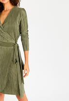 edit - Wrap-over Dress Green