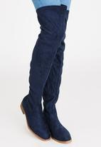 Miss Black - Dima Thigh High Boots Navy