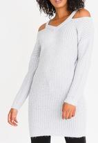 Tokyo Laundry - Broadchurch  Longline Jumper Pale Grey