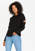 Tokyo Laundry - Cut-out Detail Jumper Black