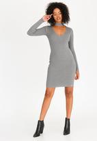 GUESS - Guess Teagan Cut-out Dress Mid Grey