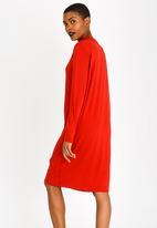 Slick - Nicky Dress with Keyhole Detail Burnt Orange